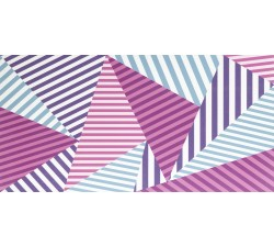 Geo Triangles Magenta 60x30