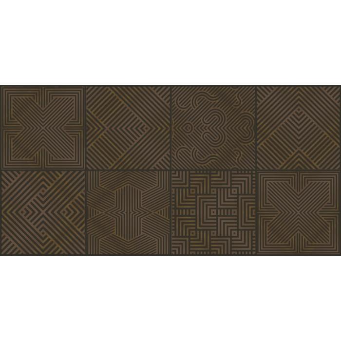 Geo Pattern Metalic Dark 60x30